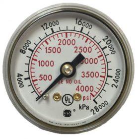 Đồng hồ đo lượng gas cần nạp vừa đủ