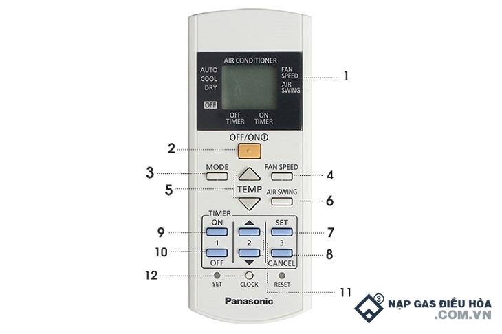 Cách sử dụng điều khiển điều hòa Panasonic trung quốc