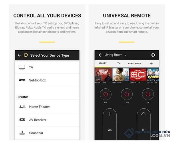 Phần mềm điều khiển điều hòa từ xa Smart TV Remote Control for IOS