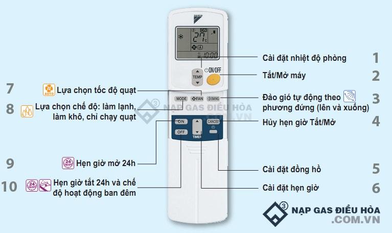 Làm quen với giao diện remote và cách điều khiển điều hòa Daikin mới nhất