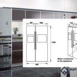 Kích thước tủ lạnh Side by Side 2 cánh các hãng MỚI NHẤT 2019