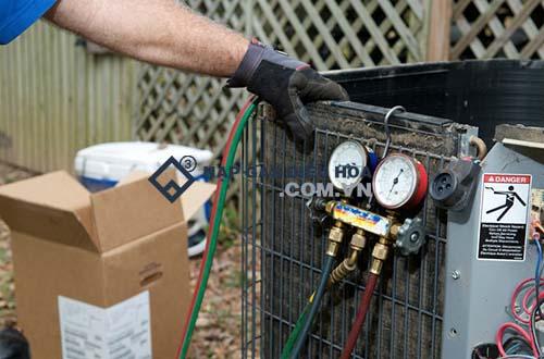 Nạp gas bổ sung khi thay block