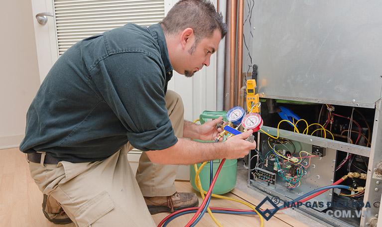 Thợ nạp gas điều hòa tại Quận Cầu Giấy