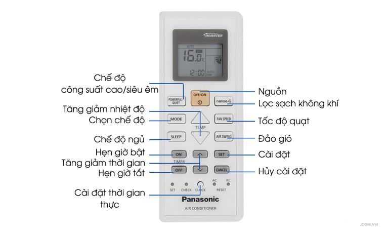 Cách chọn và thay đổi chế độ ở điều khiển điều hòa Panasonic