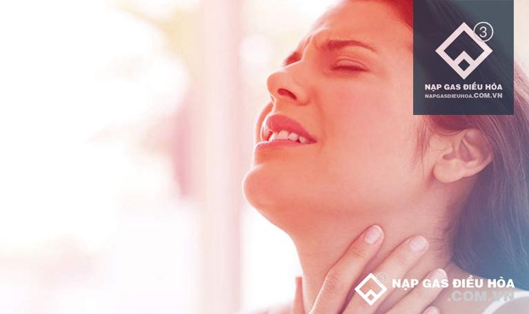 Gây viêm họng và viêm phế quản
